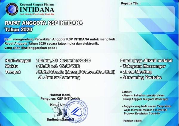 Pengamat: Agenda Rapat KSP INTIDANA Sebaiknya Ditiadakan, Implikasinya Hukum
