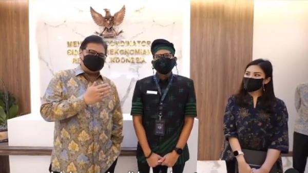 Bertemu Airlangga, Sandi Bahas Pinjaman Rp9,4T untuk Pemulihan Wisata Bali