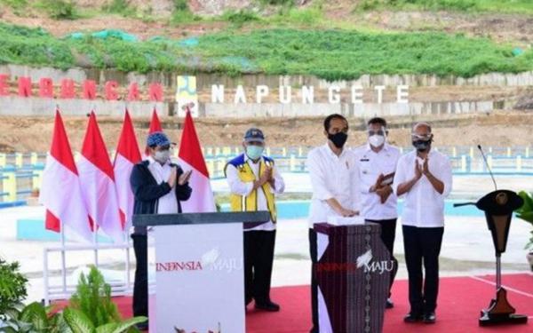 Presiden Jokowi Resmikan Bendungan Napun Gete, Sikka