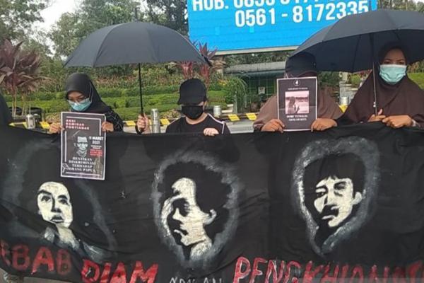 Aksi Kamisan di Pontianak Angkat Masalah HAM Papua dan Isu Lingkungan Sanggau