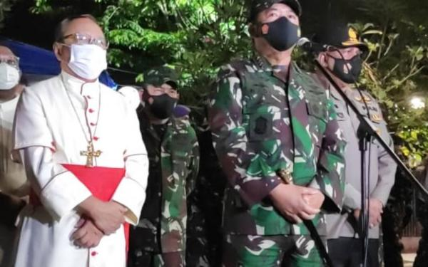 Terima Kunjungan Panglima TNI, Kardinal Ignatius Minta Umat Kristiani Tidak Takut