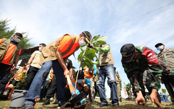 Kepala BNPB Perkuat Mitigasi Bencana Berbasis Vegetasi di Selatan Jawa