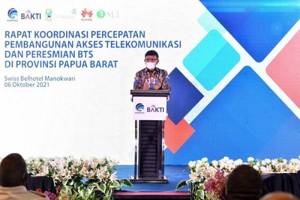 Percepat Bangun BTS 4G di Papua Barat, Menkominfo Ajak Masyarakat Jaga Infrastruktur Telekomunikasi
